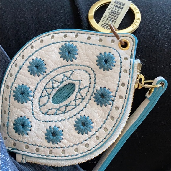 COLE HAAN key fob and change purse